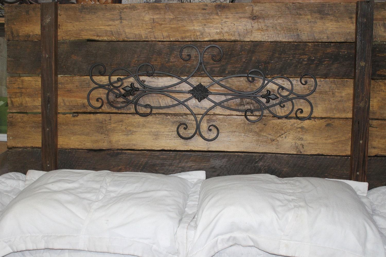 Wrought Iron Rustic Wood Headboardcassidey