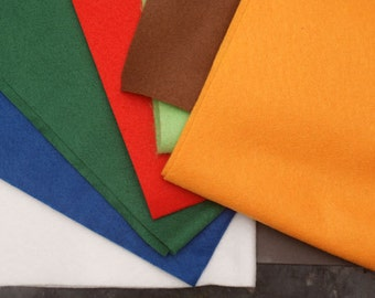 3 Wool Felt sintetic sheets - choose your colour