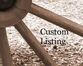 Custom Listing for Maria