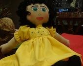 Homemade Little Muñecas- Yellow Sun Dress