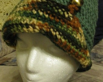 Crochet hat in Green