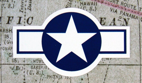 Usa Wwii Aircraft Insignia Vinyl Sticker