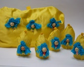 Yellow and Blue Tea Cozy and Egg Warmer set