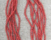 Multi Layer Seed Bead Coral Necklaces