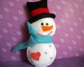 Felt snowman decoration/ ornament for Christmas- Perfect stocking stuffer or holiday gift