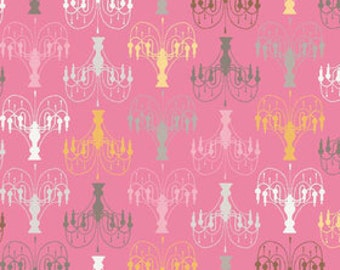 Daisy Cottage 'Chandelier' Pink by Lori Holt for Riley Blake Designs Yard
