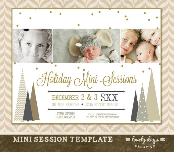 Items similar to christmas mini session template marketing board for photographers holiday for Free mini session templates