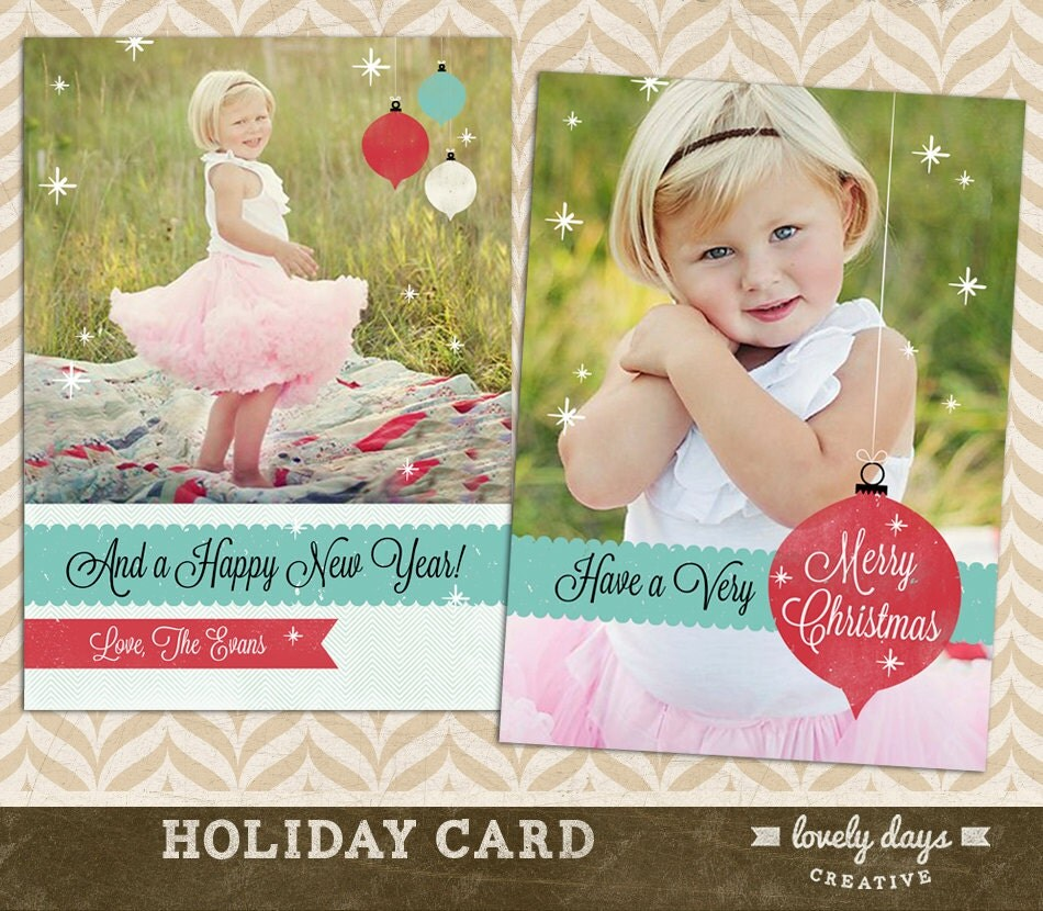 similar to Holiday Card Template for Photographers Christmas Card ...