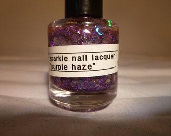 Purple Haze---Handmade/Homemade Glitter Nail Polish