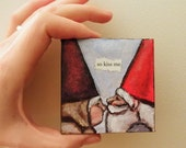 Custom Little Nuzzling Gnomes Painting