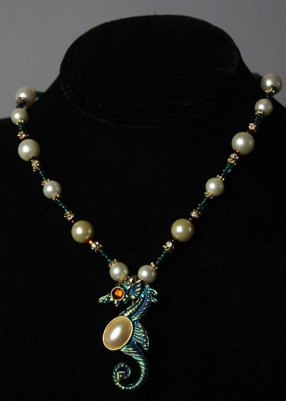 Pretty Preggers Seahorse Necklace