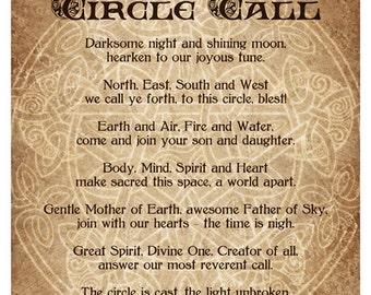 Circle Call -  Pagan Wiccan Print - Brigid Ashwood