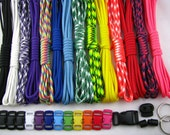 USA Made 550 Paracord Survival Bracelet Making Kit 140 Feet 14 colors W/ Buckles