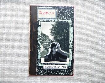 "SALE: Original Art Collage ""Souvenir D'Italie"" - Photo Art Collage, Green, Black, Original, Chilld"