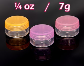6x Empty Cosmetic Lip Balm Pots Pink Purple Orange 7g 0.25 oz