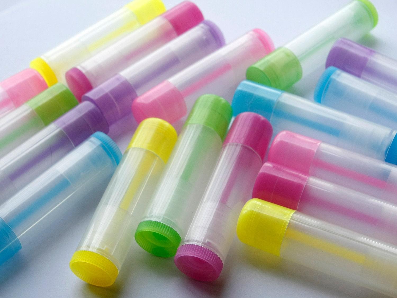 Colored Lip Balm Tubes