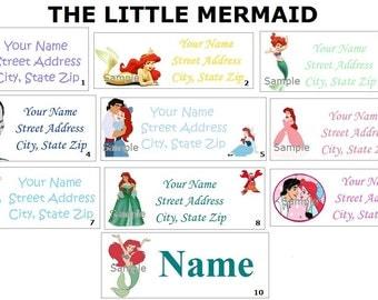 CUTE  Little Mermaid / Ariel Return Address, Party & Name Sticker Labels