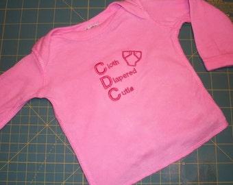 Cloth Diapered Cutie Semi-Custom Cloth Diapering Advocacy shirt