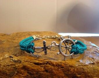 Anchor and Ships Wheel Bracelet
