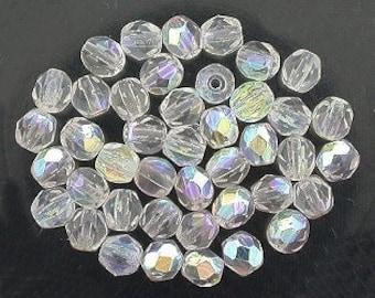 25 crystal  ab czech fire crystal beads 4mm