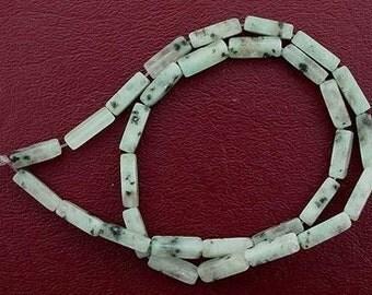 13x4 rectangle gemstone sesame jasper beads