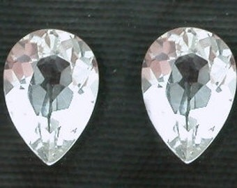 7x5 7mm x 5mm pear white topaz gem stone gemstone