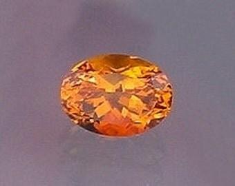 16x12 oval brandy quartz gemstone gem stone