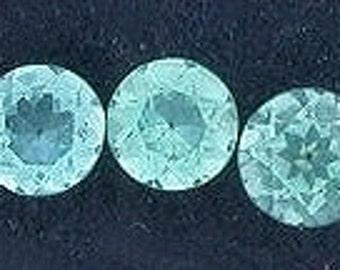 one 3mm round apatite gemstone gem stone