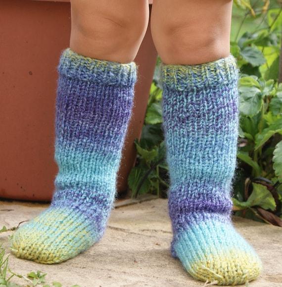 children s knee high funky chunky boot socks