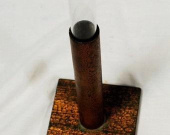 Minimalist Craftsman Style Copper Bud Vase