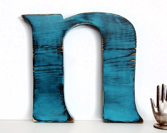 Letter N  Wall Letter Rustic Wood Sign Wall Decor Rustic Americana Country Chic Wedding Photo Prop Nursery Kids Decor