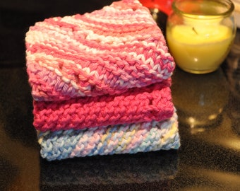 Hand knit Dish cloths