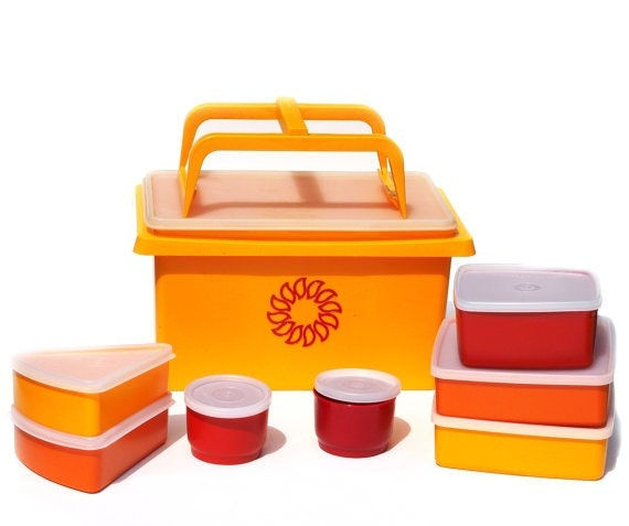 Vintage Never Used Tupperware Picnic Set perfect for fall/autumn days