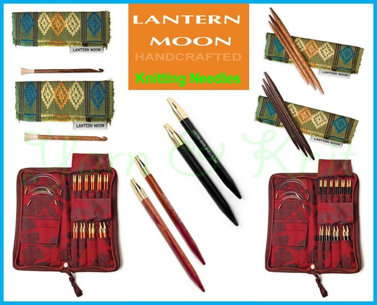 Rosewood Interchangeable Needles Tips Lantern Moon