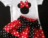 Minnie Mouse Skirt and shirt set (Available in pink