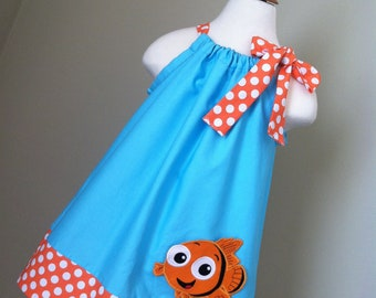 Adorable Finding Nemo pillowcase style dress