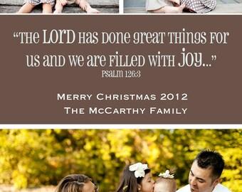 Filled with JOY Custom Christmas Photo Card