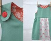 adorable apron dress, size 6