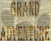 You're My Grand Adventure Dictionary Digital Print: 8x10