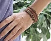 Brown Zipper Bracelet