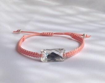 Macrame Bracelet with Swarovski Crystal Bead