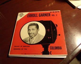 Erroll Garner Vol 2 Columbia B-1678 EP 45 - Cover Only