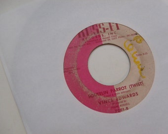 vince edwards / squeelin parrot / why did you leave me / russ-fi 7001 vinyl 45 record