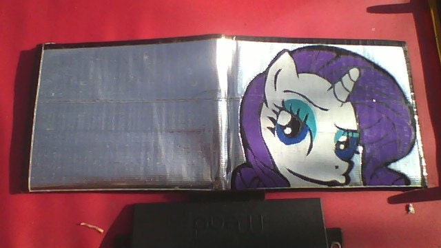 My Little Pony Rarity Duct Tape Wallet
