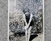 Coy Vintage Beauty - Black & White Photo