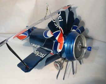 Airplane Whirl-A-Gig Made From Pepsi Cola Cans