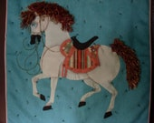 Appliqued  Beaded Horse Quilt wallhanging