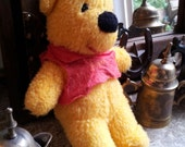 Vintage Whinnie the Pooh Bear Plush 1950s-60s