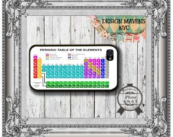 Periodic Table iPhone Case, Hard Plastic iPhone Case, Fits iPhone 4, iPhone 4s, iPhone 5, iPhone 5s, iPhone 5c, iPhone 6, Phone Cover