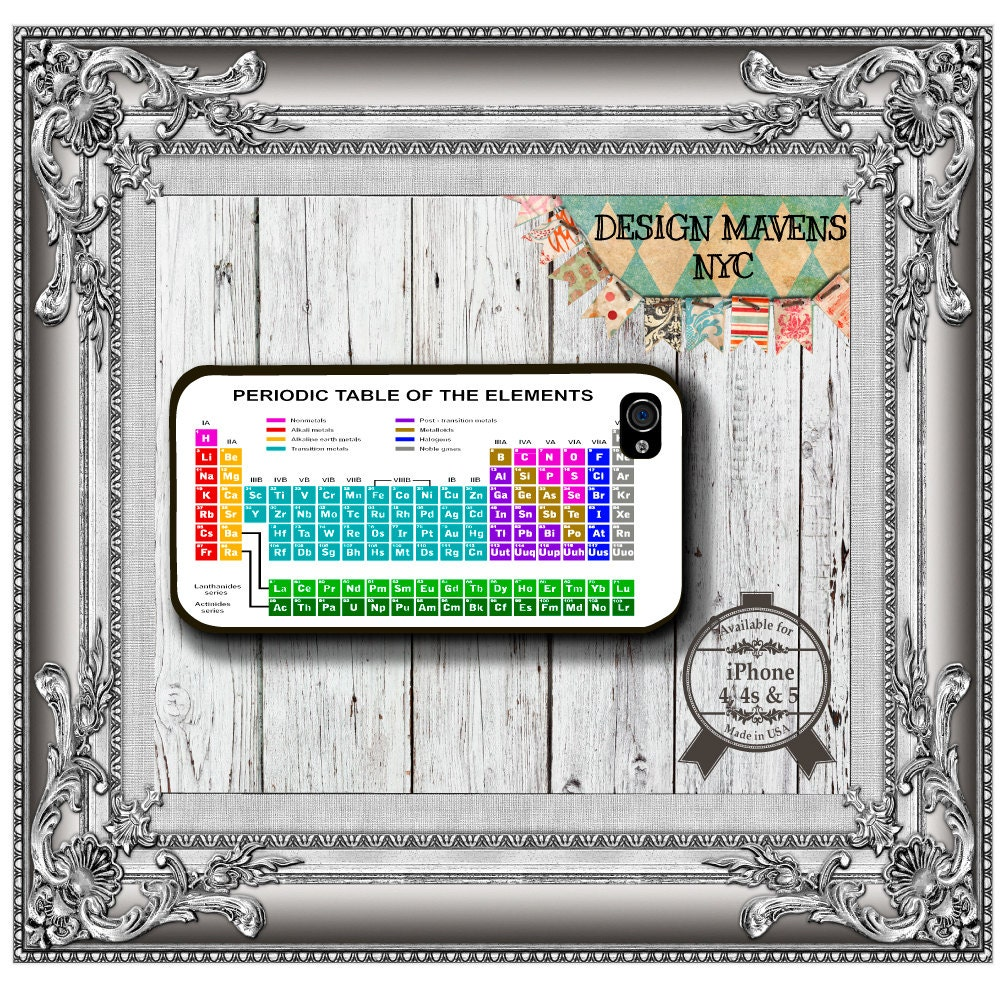 Periodic Table IPhone Case Hard Plastic Fits
